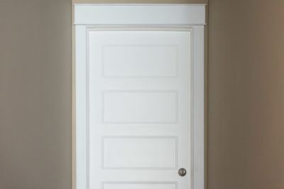 5 Panel Conmore Door with plain casing and header