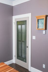 Decorative french door with signature series casing