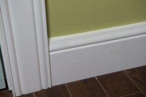 Detail of signature series baseboard and casing