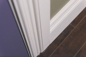 Detail of signature series casing and baseboard